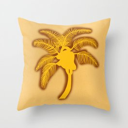 Heart Palm Tree Throw Pillow