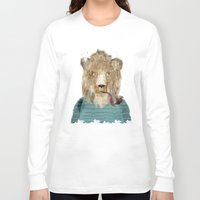 jeep Long Sleeve T-shirts featuring jeep the lion by bri.buckley