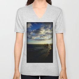 Clouds circling the Twelve Apostles Unisex V-Neck