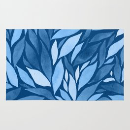 Abstract watercolour leaf XIX Rug
