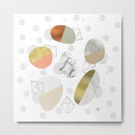 Circular forms - textures Metal Print