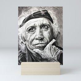 Old Rocker in Charcoals Mini Art Print