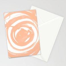 Swirl Peach Stationery Cards