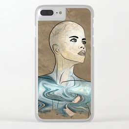 SeaBorn Gold Struck #6 Clear iPhone Case