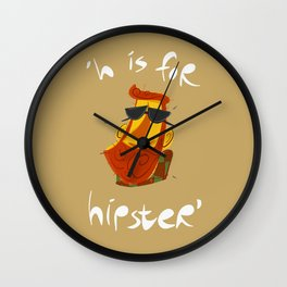 H is for hipster Wall Clock