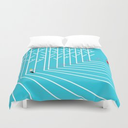 Astro Balloon | My Balloon Friend | Astronaut in Forest | Cosmonaut | pulps of wood Duvet Cover