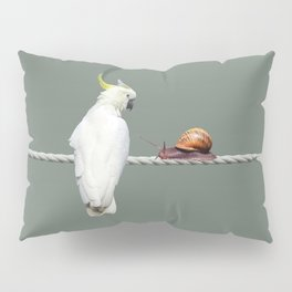 Cockatoo with Snail on Rope Pillow Sham