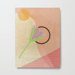Soft Purple Lily Metal Print