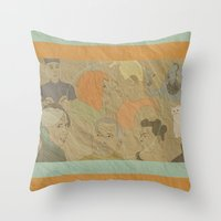 fifth element Throw Pillows featuring The Fifth Element by Itxaso Beistegui Illustrations