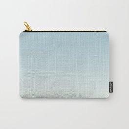BLUE STRIKES - Minimal Plain Soft Mood Color Blend Prints Carry-All Pouch