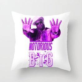 Notorious Big Throw Pillow