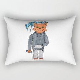 The urban cat Rectangular Pillow