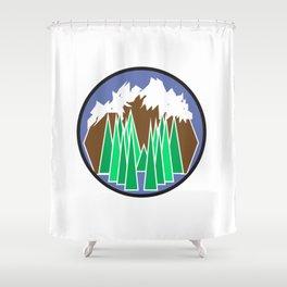 Mountain Getaway Shower Curtain