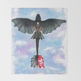 Hiccup and Toothless Flying from How to Train your Dragon 2 Throw Blanket