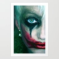 the joker Art Prints featuring Joker by Imustbedead