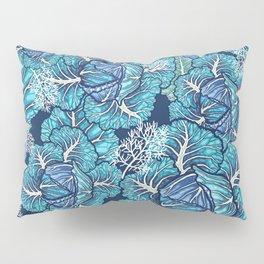 blue winter cabbage Pillow Sham