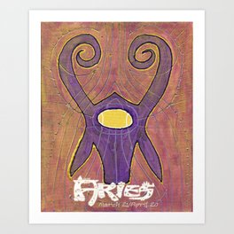 Aries the Ram Poster Art Print