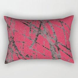 red black scratchy grunge Rectangular Pillow