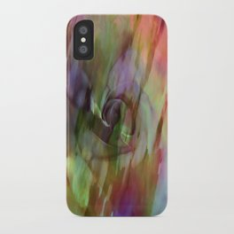 Rainbow Rose Floral Abstract iPhone Case