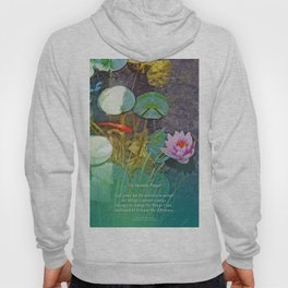 Serenity Prayer Koi Pond Lotus Hoody
