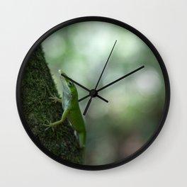 Green Anole Wall Clock