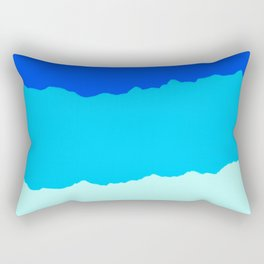Crashing Sea Waves - Foam, Surf & Sky Rectangular Pillow