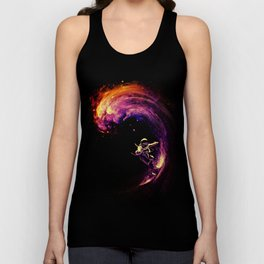 Space Surfing Unisex Tank Top