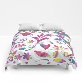 Fantasy Pink Flowers Comforters