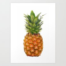 Fruity Fellas: Pineapple Art Print