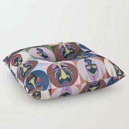 Patchworks - masks5 Floor Pillow