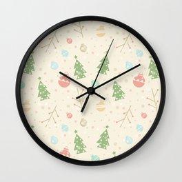 Simple christmas vector pattern Wall Clock
