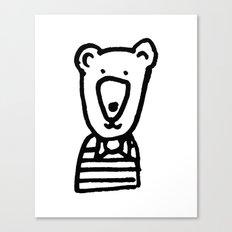 Monochrome bear nursery art Canvas Print