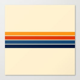 Classic Retro Stripes Canvas Print