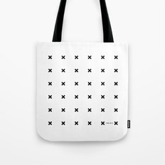 Black X on White Tote Bag