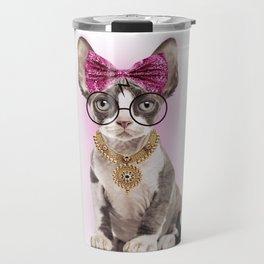 Feminism Woman is like a cat Travel Mug