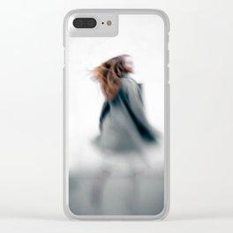 Walking women Clear iPhone Case