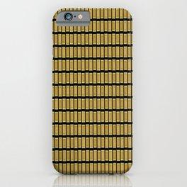 Gold Bar Pattern iPhone Case