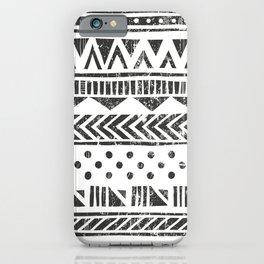 Vintage Ethnic Aztec hand drawn illustration pattern  iPhone Case