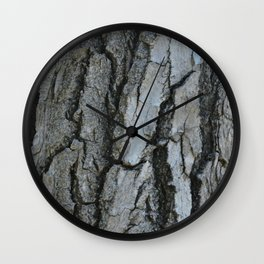 TEXTURES -- Fremont Cottonwood Bark Wall Clock
