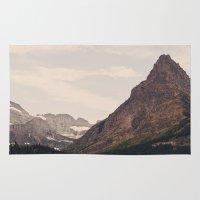 montana Area & Throw Rugs featuring Montana Mountain by Kurt Rahn