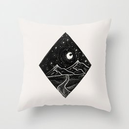 Mountains and Stars Throw Pillow