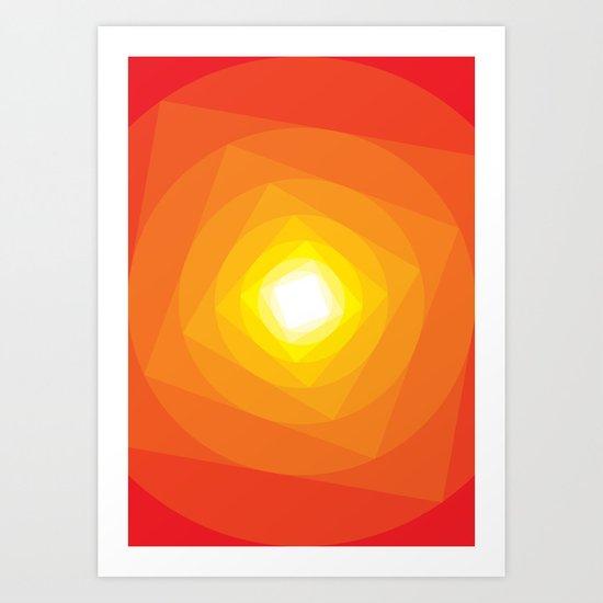 Gradient Sun Art Print