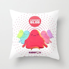 Alright Devices - Chronoblob Throw Pillow
