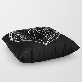 Heart Graphic (Black) Floor Pillow