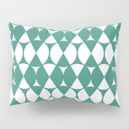 Classic Wheel and Diamond Futurist Pattern 220 Green Pillow Sham