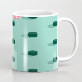 Pop Pucks #society6 #hockey #sport Coffee Mug