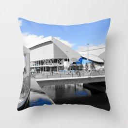 Aquatics Centre - London 2012 - Olympic Park Throw Pillow