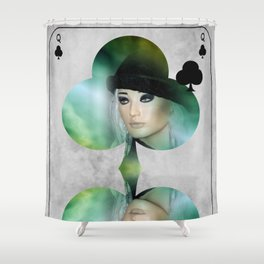 queen of clubs Shower Curtain