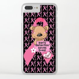 Early Detection Saves Lives Breast Cancer Clear iPhone Case