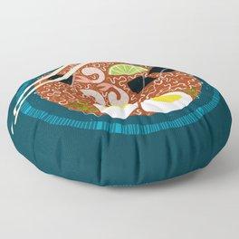 Ramen Noodles for Lunch Floor Pillow